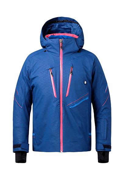 天蓝色高防水保暖滑雪服定制厂家